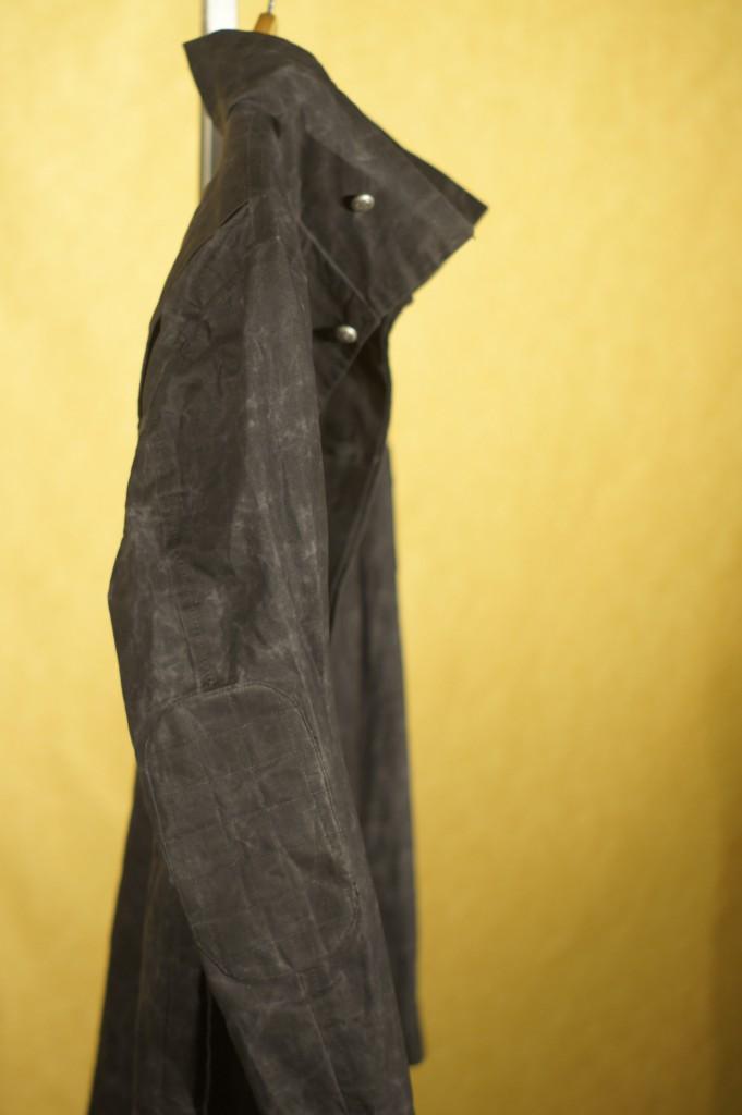 Grey Waxed Cotton Field Jacket
